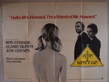 Three Into Two Wont Go, UK Quad Poster, Rod Steiger, Claire Bloom, '69